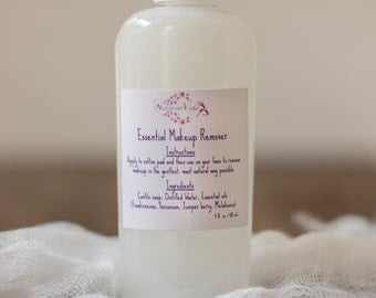 Essential Makeup Remover - Chemical-Free Facial Cleanser Perfect for All Skin Types (Powered by Essential Oils)