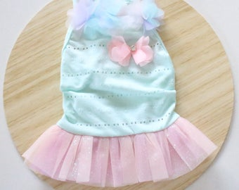 Blue Tulle dress / Bunny dress / Dress for rabbits and small pets