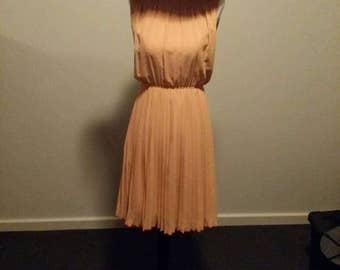 Vintage orange dress sz 6-8