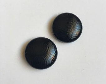 19mm Black Glossy Fabric Studs