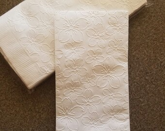 Embossed Napkins, Luncheon Napkins, 6X6 Inch Embossed Napkins, Choose Your Color - Parties, Events, Showers, Anniversaries, Weddings