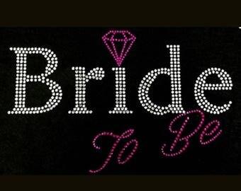 Wedding, Bride to Be (5.5x9) Rhinestone Bling T-Shirt