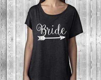 Bride Shirt | Bride Tribe Dolman | Bachelorette Party Tank | Team Bride | Wedding Party Shirt | Bridesmaid Shirt | Bridal Party | Bride Gift