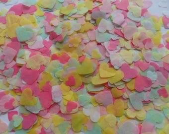 Sugar Rush Bright Pastels Biodegradable Tissue Paper Confetti Hearts Wedding Party