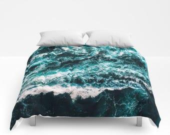 Ocean Bedding, Ocean Comforter, Beach Bedding, Beach Decor, Boho Bedding, Boho Comforter, Beach Comforter, Bed Cover