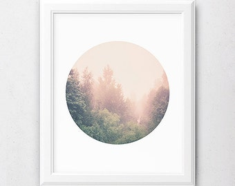 Forest Print, Forest Photography, Tree Prints, Nature Poster, Forest Poster, Circle Artwork, Wall Art Decor, Tree Poster, Circle Photography