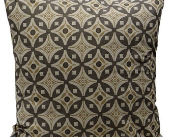 Elmas Handscreen Printed Cushion Cover - Stone Grey / Antique Beige 50x50cm