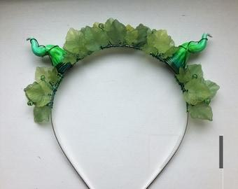 Green Fairy Crown, Green leaf hairband
