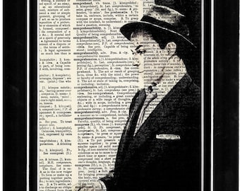 344 Frank Sinatra upcycle art print