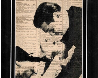 Dictionary art Clark Gable and Vivian Leigh