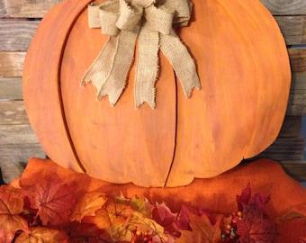 Wooden Pumpkin Wall Decor for Fall