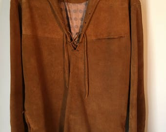 Hippy Rock Chestnut Suede Pullover