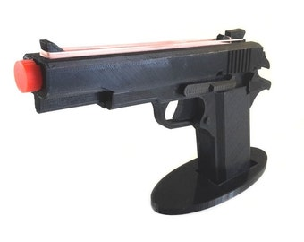 M1911 3D printed rubber band gun for office warriors, kids, Children toy gift pistol with Elastic bands