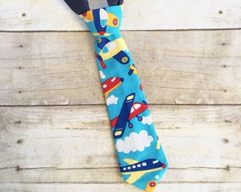 Airplane Tie, Baby Airplane Ties, Toddler Airplane Necktie, Kids Airplane Tie, Plane Ties, Airplane Accessories, Airplane First Birthday,