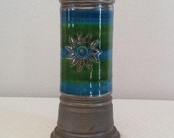Vintage Rosenthal Netter Bitossi Londi Style Pottery Vase, Made in Italy, Vintage Bitossi Londi, Vintage Rosenthal Netter Bud Vase
