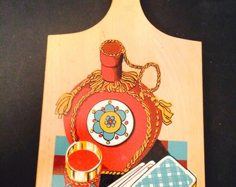 Made in Yugoslavia Cutting Board Vintage Kitchen Decoration Vintage Gift from Yugoslavia