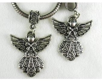 6 Tibetan Silver Angels