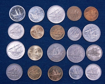 25 Kuwaiti Sailing Ships 17-25 mm, Copper & Nickel