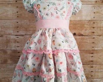 Buttercream Icing dress - ruffle dress - spring dress - toddler dress - birthday dress - floral dress