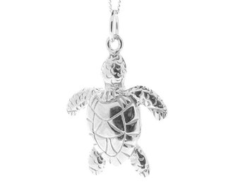 Sterling Silver Turtle Pendant & Chain