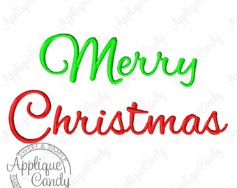 Merry Christmas Machine Embroidery Design 3x3 4x4 5x7 6x10 Saying Phrase Happy Holidays Holiday INSTANT DOWNLOAD
