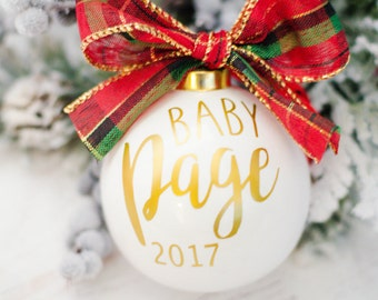 We're Expecting Ornament, Pregnancy Reveal, Baby Reveal, Baby Announcement Ornament, Pregnancy Ornament, Expecting Ornament, Baby Ornament