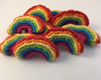 Handcrafted Rainbow Plush or Cat Toy