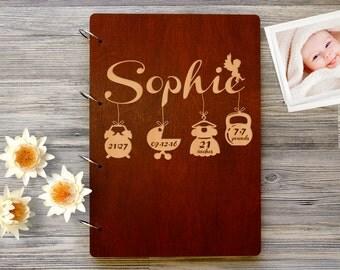 Baby Photo Album - Personalized Baby Photo Book - Custom Baby Photo Album - Wooden Baby Photobook - Engraved Family Album - Baby Album