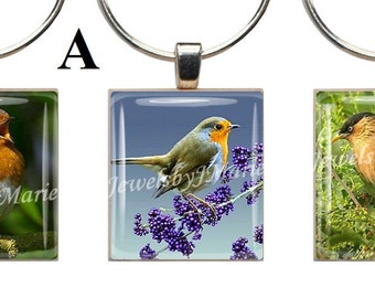SONGBIRDS ~ Scrabble Tile Wine Glass Charms ~ Set of 3 Stemware Charms/Markers/Pendants ~ Toast Your Celebration with Style!