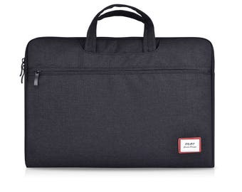 "Laptop Bag 13 Inch, Laptop Sleeve 15.6"", Mens Satchel, Laptop Briefcase 13 Inch, Portfolio Attache, Macbook Pro Bag Waterproof, Black, L59"