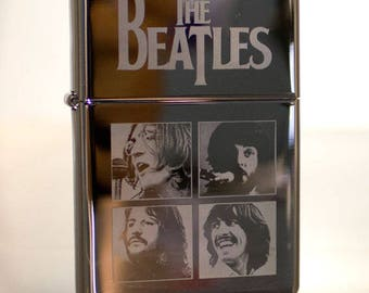 Chrome The Beatles Let It Be Album Cover Windproof Oil Lighter
