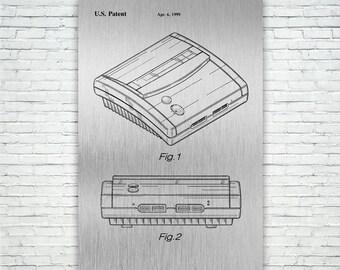 Super Nintendo Version 2 Poster Patent Art Print Gift FREE SHIPPING, Patent Print, Patent Poster, Wall Art, Home Decor, Vintage Art