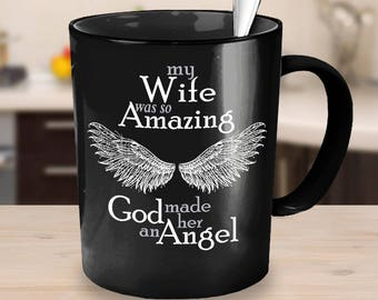 Wife Bereavement Mug | Sympathy Mug | Memorial Gift Mug | Grief Mug | Memorial Mug | Memorial Coffee Mug | Angel Wings Mug | Remembrance Mug
