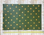 Green & Mustard Polka Dot Floor Cloth