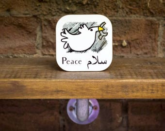 The Dove of Peace Coaster.
