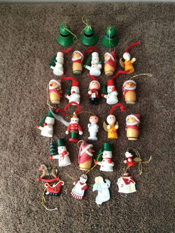 Best 28 mini wooden christmas ornaments mini wooden for Collecting vintage christmas ornaments