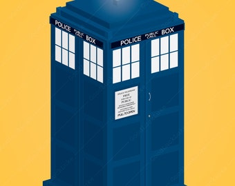 Doctor Who Tardis 11x17 Poster - Digital Download