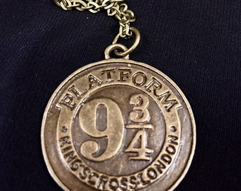 9 3/4 Platform Necklace - 2 color options!! - ON SALE - 2 necklaces for 16.99, Harry Potter Necklace, Harry Potter themed party
