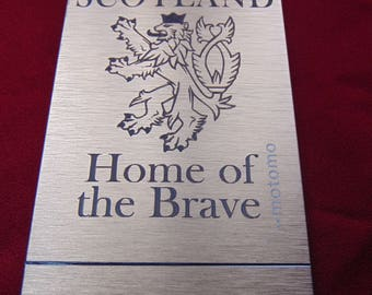 Scotland Home of the Brave Engraved Phone Case - iPhone Samsung Nokia Xperia