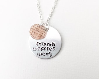 Leslie Knope necklace, parks & rec, galentines gift, friends waffles work, Amy Poehler, leslie knope jewelry, galentine's day, galentines