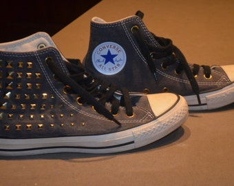 Code FOREVER15: 15% off price reduced!  90's converse Chuck Taylor All Star with rivets Rare!              38 HAD 7.5US 5.5UK