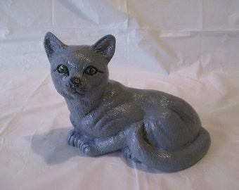 ceramic bisque cat