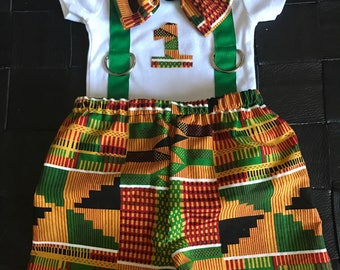 African oufit/kente boy outfit/African babyboy clothes/baby set/Newborn clothes/African clothing/ankara