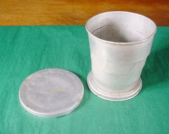 Shabby Bicycle Cup Collapsible Aluminum Drinking Travel Cup Older Vintage