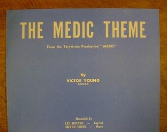 Sheet Music The Medic Theme TV Television Music Sheet Antique Vintage Original