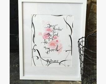 Framed Scripture Art