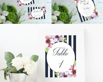 """Wedding invitation - partecipazioni di matrimonio - """"Striped"""" Collection - segnatavoli - table decoration - thank you card - rsvp"""
