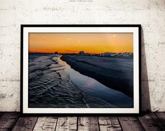 Beach Photography, Sunset, Winter Sunset, South Jersey, Ventnor New Jersey, Ocean Photograph Print, Wall Decor, Wall Art Print, High Res