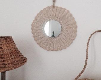 Mirror round boho