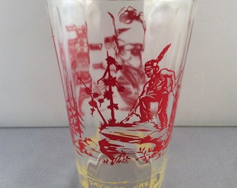 ON SALE:  Vintage Collectible Davy Crockett Glass